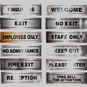 Office, Business, Shop and Home Signs 17cm X 4cm